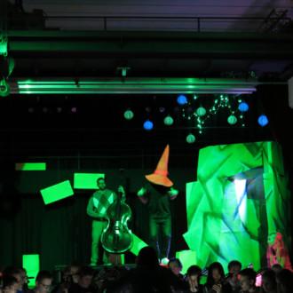 Bühnenbild für JuniorZupfOrchester NRW